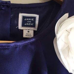 Janie and Jack Dresses - Janie and Jack Purple Satin Dress